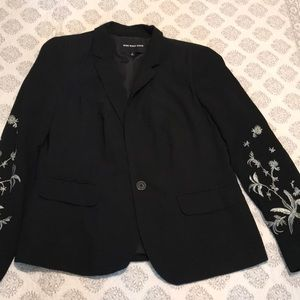 Who What Wear Embroidered Blazer